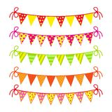 Festive colored flags. Set festive colored flags. This is file of EPS10 format Royalty Free Stock Image