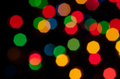 Festive colored lights Stock Image