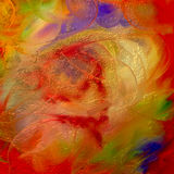 Festive colorful background. Golden festive painting in sparkling holiday colors Stock Image