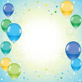 Festive colorful balloons. And space for text, vector Stock Image