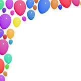 Festive Colorful Balloons For Birthday. Celebrations With Blank Copy space Royalty Free Stock Image