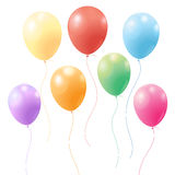 Festive colorful balloons. Bright festive colorful balloons on white background Royalty Free Stock Photos