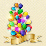 Festive colorful Balloons. Colorful balloons on the light background. Festive background for your design Royalty Free Stock Images