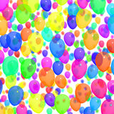 Festive Colorful Balloons In The Sky For Birthday Celebrations. Festive Colorful Balloons In The Sky For Birthday Celebration Stock Photos