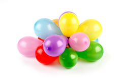 Balloons. Festive colorful balloons on white Royalty Free Stock Images