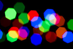 Festive colorful Blurred lights Stock Photography
