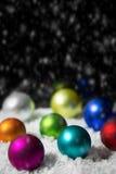 Festive colorful christmas decoration Stock Image