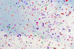 Festive colorful confetti Stock Photography