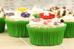 Festive and colorful cupcakes Royalty Free Stock Photos