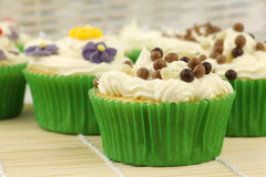 Festive and colorful cupcakes Royalty Free Stock Image