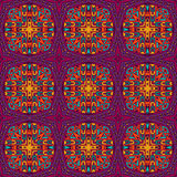 Festive Colorful ethnic seamless vector pattern Royalty Free Stock Images