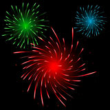 Festive colorful fireworks Royalty Free Stock Images