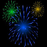 Festive colorful fireworks Stock Image