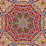 Festive colorful mandala star pattern. Vector abstract ethnic seamless pattern tribal background. Endless geometric print Royalty Free Stock Photos