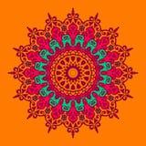 Festive colorful mandala. Mandala Vintage decorative flourish. Festival Round ornamental design Stock Photos