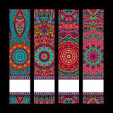 Festive colorful ornamental banner set. Festive colorful ornamental vector ethnic banner set Royalty Free Stock Image