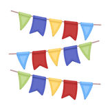 Festive colorful ribbons. Party and parties single icon in cartoon style vector symbol stock illustration. Royalty Free Stock Image