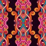 Festive Colorful seamless mandala vector pattern. Festive Colorful damask swirl tiled seamless  vector pattern Stock Image