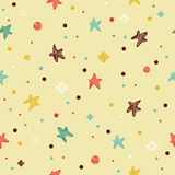 Festive colorful seamless pattern with star Royalty Free Stock Photo