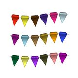 Festive Colorful small flags. Colorful tags Stock Photo