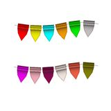 Festive Colorful small flags. Colorful tags. Festive Colorful small flags hang on line. Colorful tags Royalty Free Stock Photos