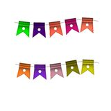 Festive Colorful small flags. Colorful tags. Festive Colorful small flags hang on line. Colorful tags Stock Photo