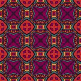 Festive colorful tile pattern. Vector Tribal indian vintage ethnic seamless design. Festive colorful tile pattern Stock Images