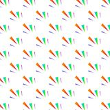 Festive colorful triangle confetti background. Vector illustrati. On for decoration of holidays, postcards, posters, websites, carnivals, birthday and children\' Royalty Free Stock Photography