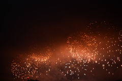 Festive colour firework background. At a dark night Stock Photo