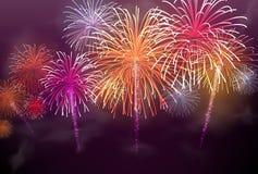 Festive colour firework background Stock Photos