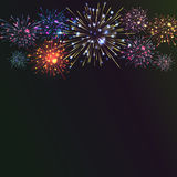 Festive colour firework background. Vector illustration. 10 eps Royalty Free Stock Photography
