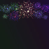 Festive colour firework background. Vector illustration. 10 eps Stock Photos