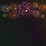 Festive colour firework background. Vector illustration. 10 eps Royalty Free Stock Photo