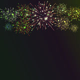 Festive colour firework background. Vector illustration. 10 eps Stock Photography