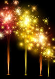 Festive colourful firework background. Vector illustration Royalty Free Stock Photos
