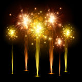 Festive colourful firework background. Stock Photography