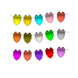 Festive Colourful small flags. Colourful tags Royalty Free Stock Photography