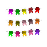 Festive Colourful small flags. Colourful tags Stock Image