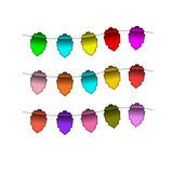 Festive Colourful small flags. Colourful tags Stock Photos