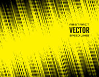 Festive comic diagonal dash speed line on yellow background. Design element. Vector Royalty Free Stock Images