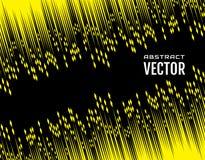 Festive comic diagonal dash speed line yellow color on black background. Design element. Vector Stock Photos