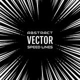 Festive comic radial dash speed line on black background, like fireworks. Effect power explosion illustration Royalty Free Stock Image
