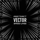 Festive comic radial speed line on black background, like fireworks. Effect power explosion illustration. Design element Stock Image