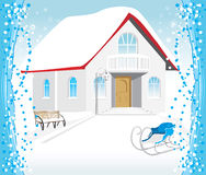 Festive composition for Christmas card. Illustration Royalty Free Stock Photo