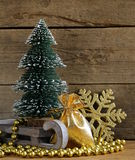 Festive composition with Christmas tree Stock Photos