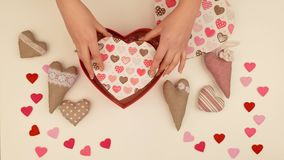 Festive composition to the day of Valentine. stock footage