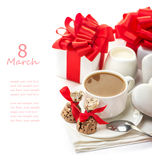 Festive composition  on white Stock Photo
