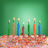 Festive concept. Happy birthday candles Royalty Free Stock Photos