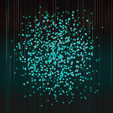 Festive confetti. Abstract turquoise background Stock Photo