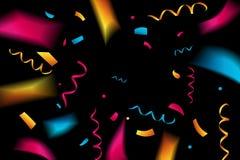 Festive confetti. Black background. Festive confetti. Black background Vector illustration Royalty Free Stock Photos